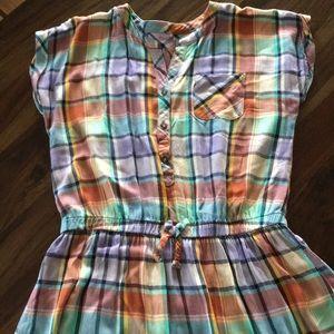 Cat & Jack plaid dress girls XL